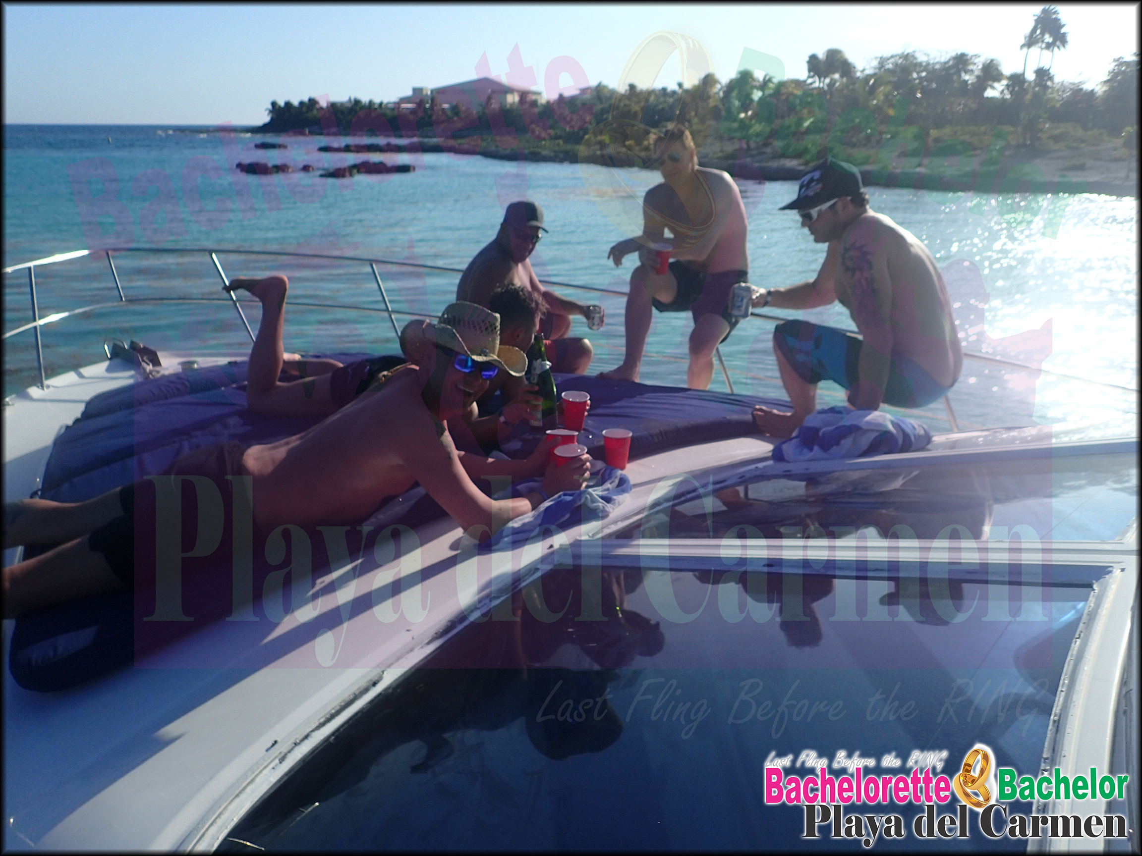 Bachelor party yachting playa del carmen bachelorette for Deep sea fishing playa del carmen