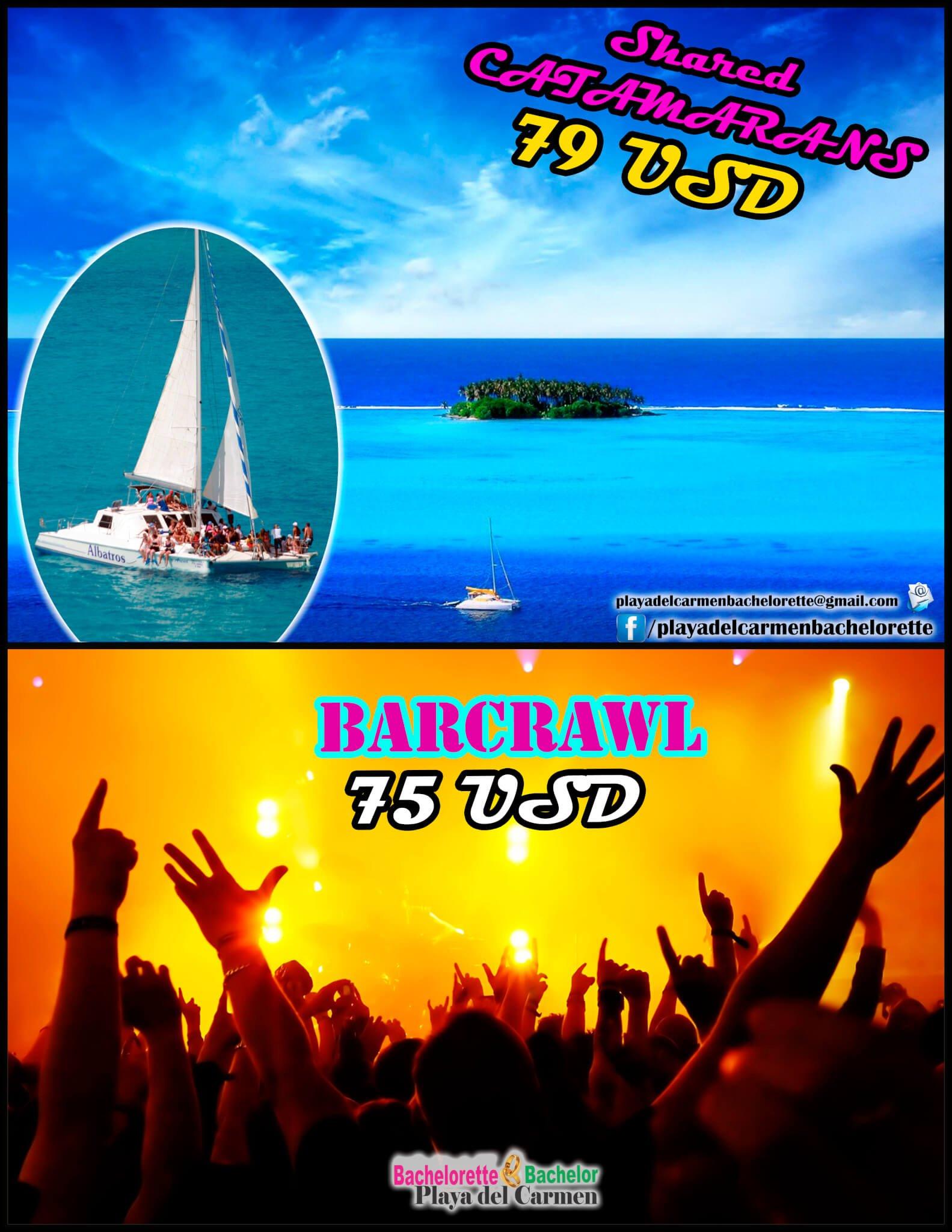 offer barcraw + catamaran