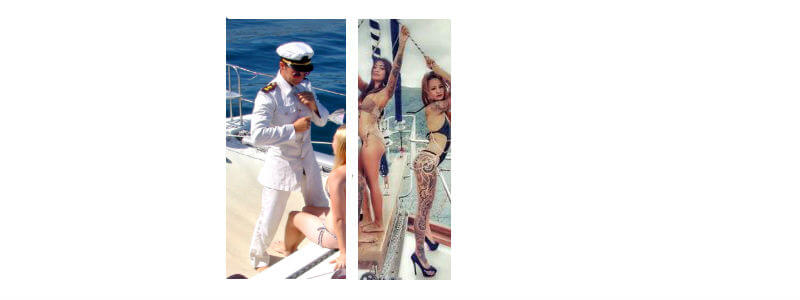strippers on yacht