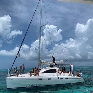 sexy catamaran cancun